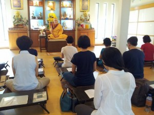 Genla Khyenrab teaching The Four Seals on 4th May 2014
