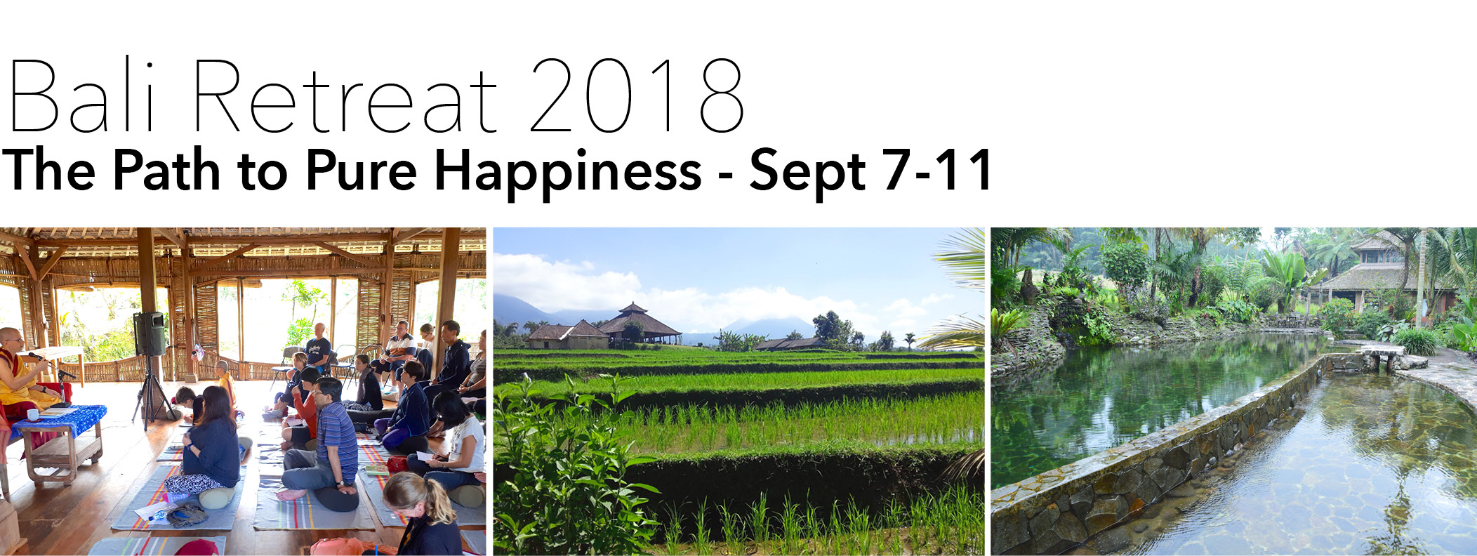 Bali Retreat 2018